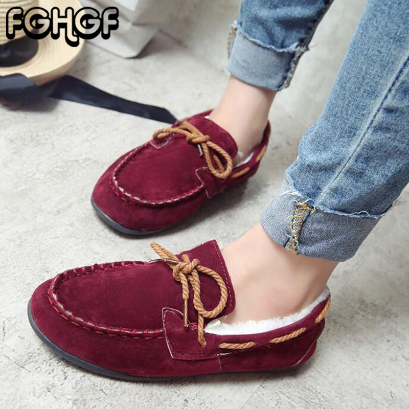 Women flats winter warm fur Cotton shoes 2018 New women comfort casual platform shoes Shallow loafers creepers moccasins Y141 timetang casual cow leather women shoes keep warm cotton shoes woman shallow female flats fur loafers plush winter mother c281