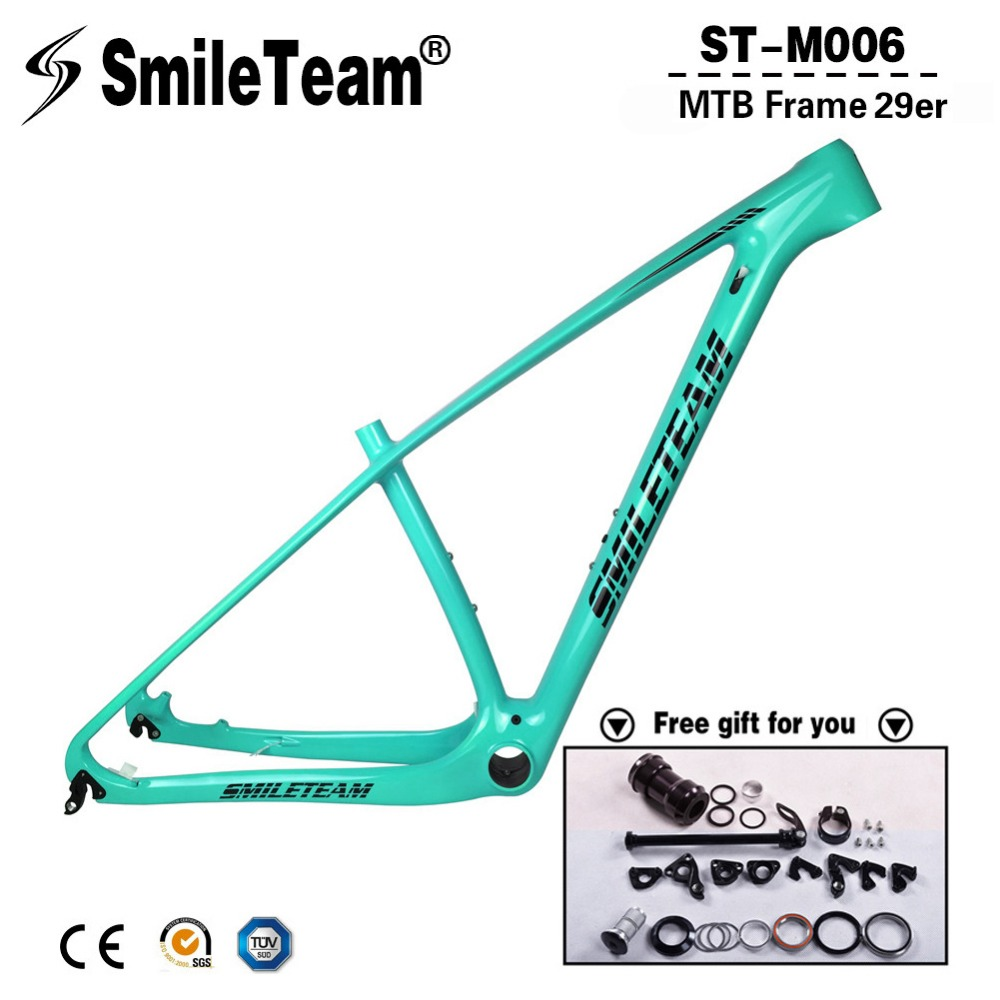 SmileTeam T1000 Full Carbon MTB Frame 27.5er 29er Carbon Mtb Frame 29 Carbon Mountain Bike Frame 142*12 or 135*9mm Bicycle Frame smileteam 29er 27 5er carbon mtb frame 650b t1000 full carbon mountain bike frame 142 12 thru axle or 135 9mm qr bicycle frame