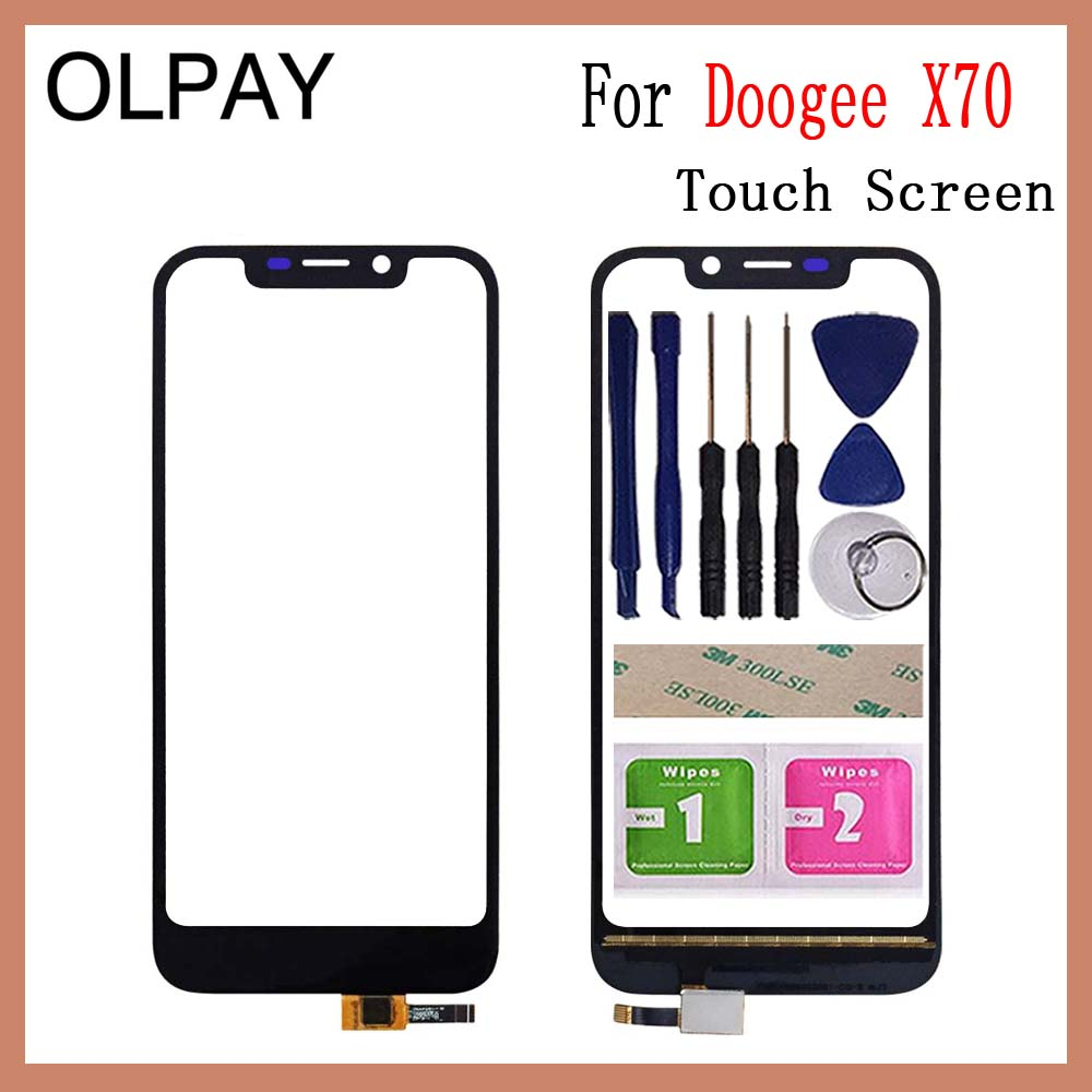 OLPAY 5.5'' For Doogee X70 X 70 Touch Screen Glass Digitizer Panel Lens Sensor Glass Free Adhesive And Wipes