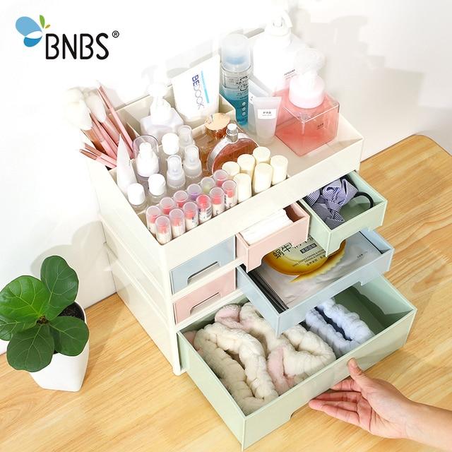 BNBS 1 Pcs Birleştirilebilir Oje Ruj saklama kutusu Makyaj Organizatör Kozmetik Takı Kutusu Çekmece Masaüstü Çeşitli Eşyalar Konteyner