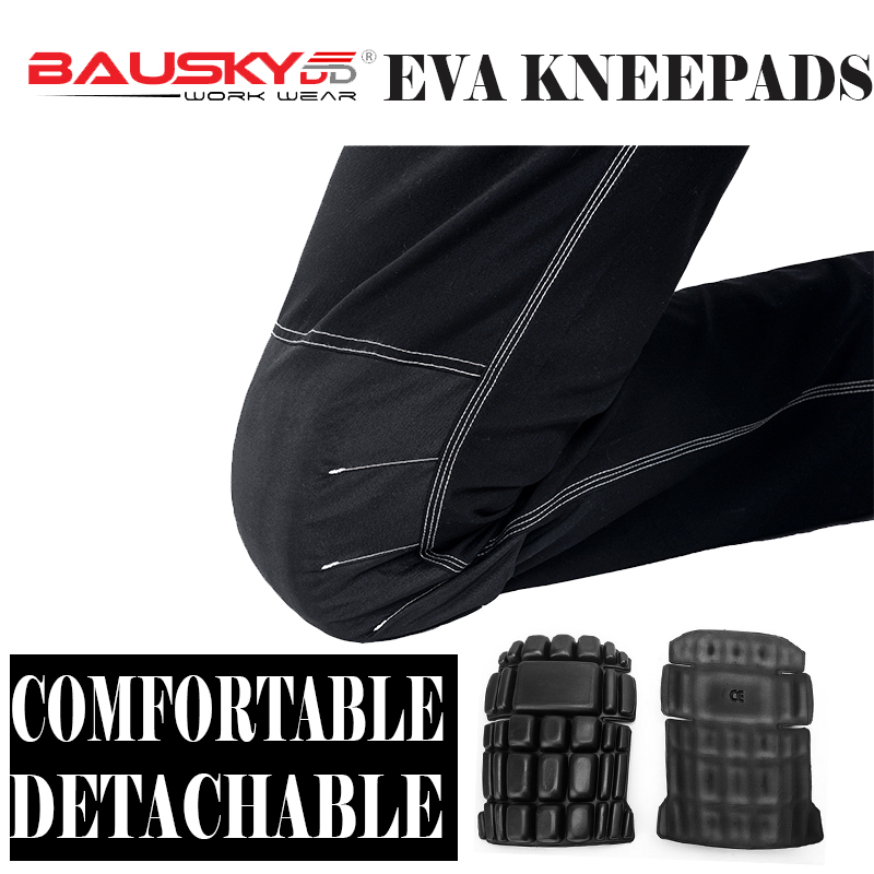Bauskydd A Pair Of Eva Kneepads For Work Kneelet For Work Pants  Genouillere Knee Protection Detachable Removable Knee Pads