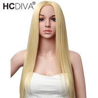 130% Density 613 Blonde Full Lace Human Hair Wigs With Baby Hair Straight Brazilian Remy Hair Lace Wigs Pre Plucked HCDIVA