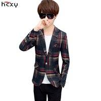 2017 New Stripes Casual Jackets Men Blazers Spring And Autumn Men Suits Slim Fit Suit Jacket