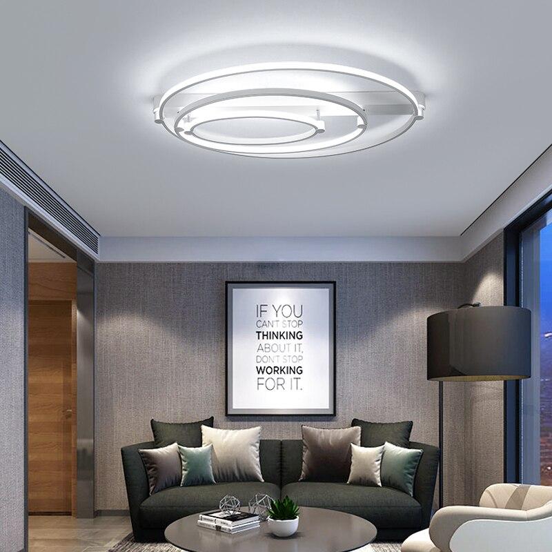 New Aluminum+Acrylic Modern led ceiling lights for living room bedroom Home Dec Plafon home Lighting ceiling lamp fixtures
