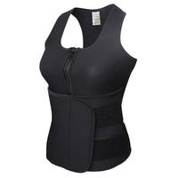 S-6XL Women's Slimming Neoprene Vest Hot Sweat Shirt Body Shaper Weight Loss Waist Trainer Shapewear Adjustable Control Tummy