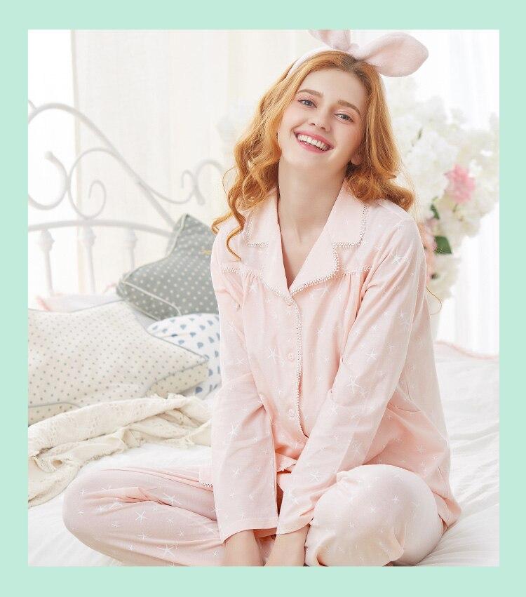 Zwangerschapskleding Pyjama.Muqian Moederschap Pyjama 2 Stks Sets Nachtkleding Voor Zwangere