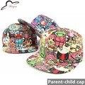 Sombrero Gorra de Béisbol casquillo del padre-niño Monstruo Diablo Kpop Snapback Caps Casquillo de Hip Hop de Los Hombres Monstruo Snapbacks Gorras de Mezclilla Para Niños adultos