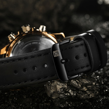 Men's Classic Style Wristwatch with Leather Band