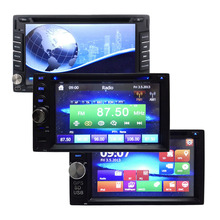 New 2 Din 100 Pure CE Universal Car 1080P HD DVD Player Stereo Video GPS QuadCore No Android Stereo GPS Navigation Auto Radio