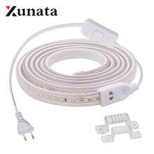 220V 2835 LED Strip Waterproof Warm / White 60LEDs/m 120LEDs/m Ribbon Tape Flexi