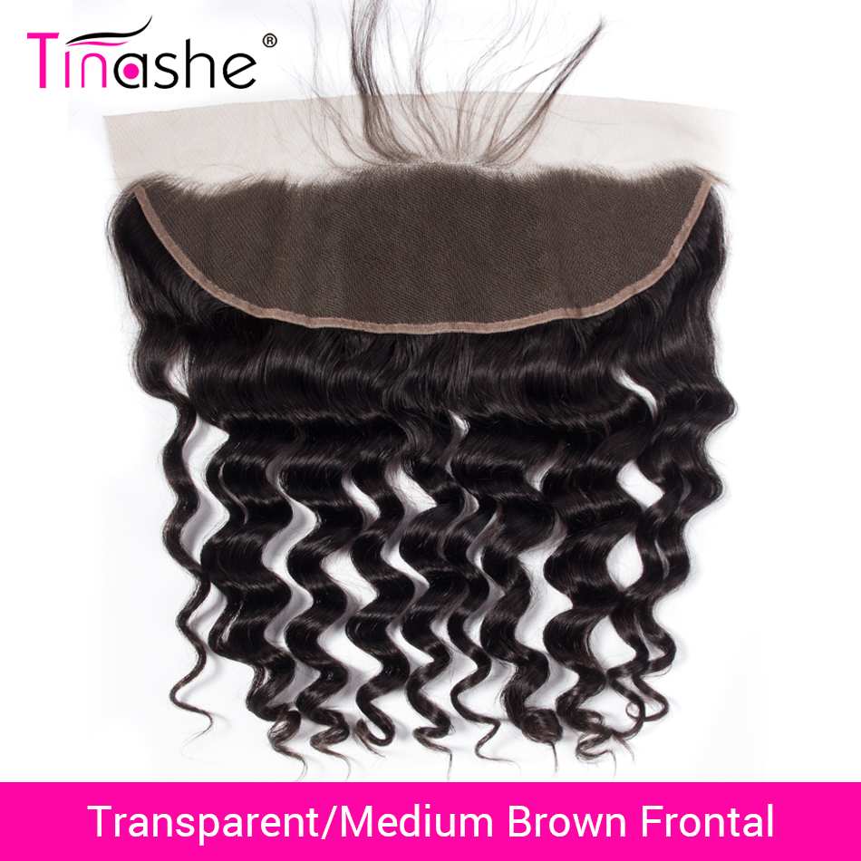 Tinashe Hair Transparent Lace Frontal Brazilian Loose Deep Wave Lace Frontal Remy Human Hair HD Swiss Lace Frontal Closure