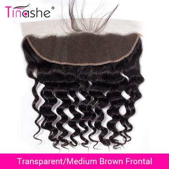 Tinashe włosy przezroczyste koronkowe przednie brazylijskie luźne głębokie fale koronkowe przednie Remy ludzkie włosy HD szwajcarskie koronkowe przednie zamknięcie tanie i dobre opinie Remy włosy BR (pochodzenie) 13 x 4 150 Brazylijski włosy Ręka wiążący Swiss koronki Wszystkie kolory 1 sztuka tylko