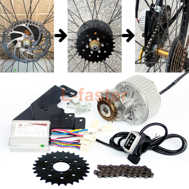 24V36V 450W Electric Bike Conversion Kit For Disc Brake Rotor Left Side Mounting Electric Bicycle Motor