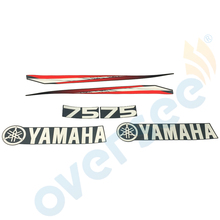 For Yamaha 75hp outboard engine graphics sticker kit Top Cowling Sticker