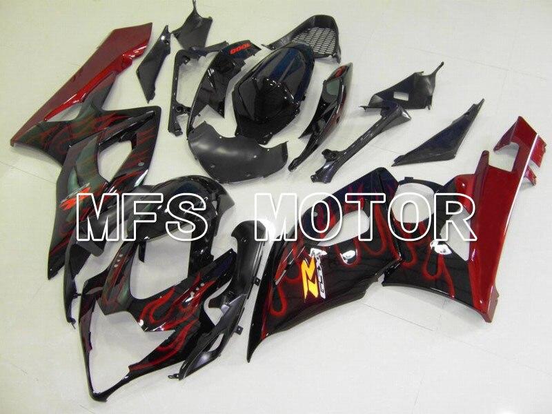 Для Suzuki GSXR 1000 К5 2005 2006 ABS инъекции Обтекателя комплекты GSXR1000 К5 05 06 Красный пламя черный/красный