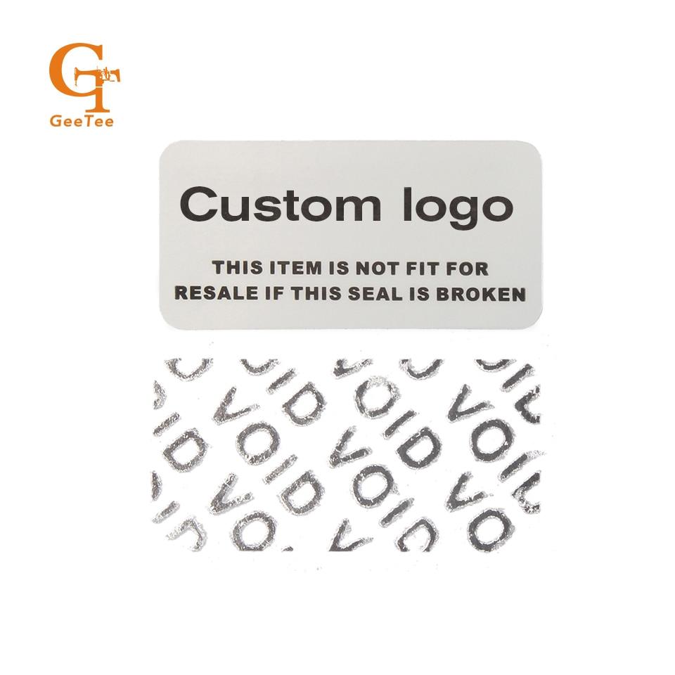 Custom logo matt silver stickers warranty void stickers for mobile