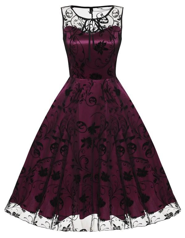 Mustrilise võrguga kleidid