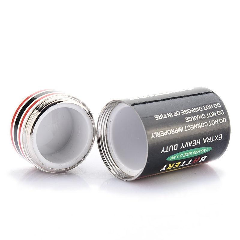 1PCS Creative Hidden Money Coins Container Case Battery Secret Stash Diversion Safe Pill Box 4.5*2.4cm