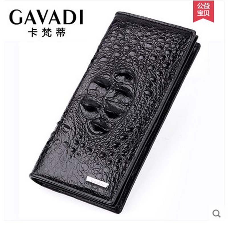 cafandi new crocodile men wallet  man long real crocodile leather American and European real men wallet multiple card holder