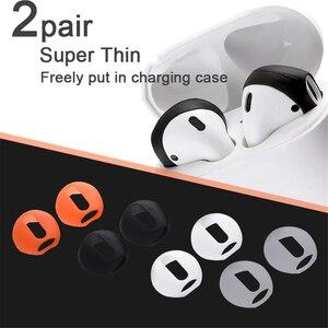 Image 3 - Nouvelle mode couleur douce Ultra mince écouteurs conseils anti dérapant écouteurs Silicone écouteur housse pour Apple AirPods Earpods