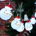 120 СМ Батарейках Снеговик 10 СВЕТОДИОДОВ Строка Свет Лампы Рождественская Елка Декор Фея Света Чистый Теплый Белый DC3V