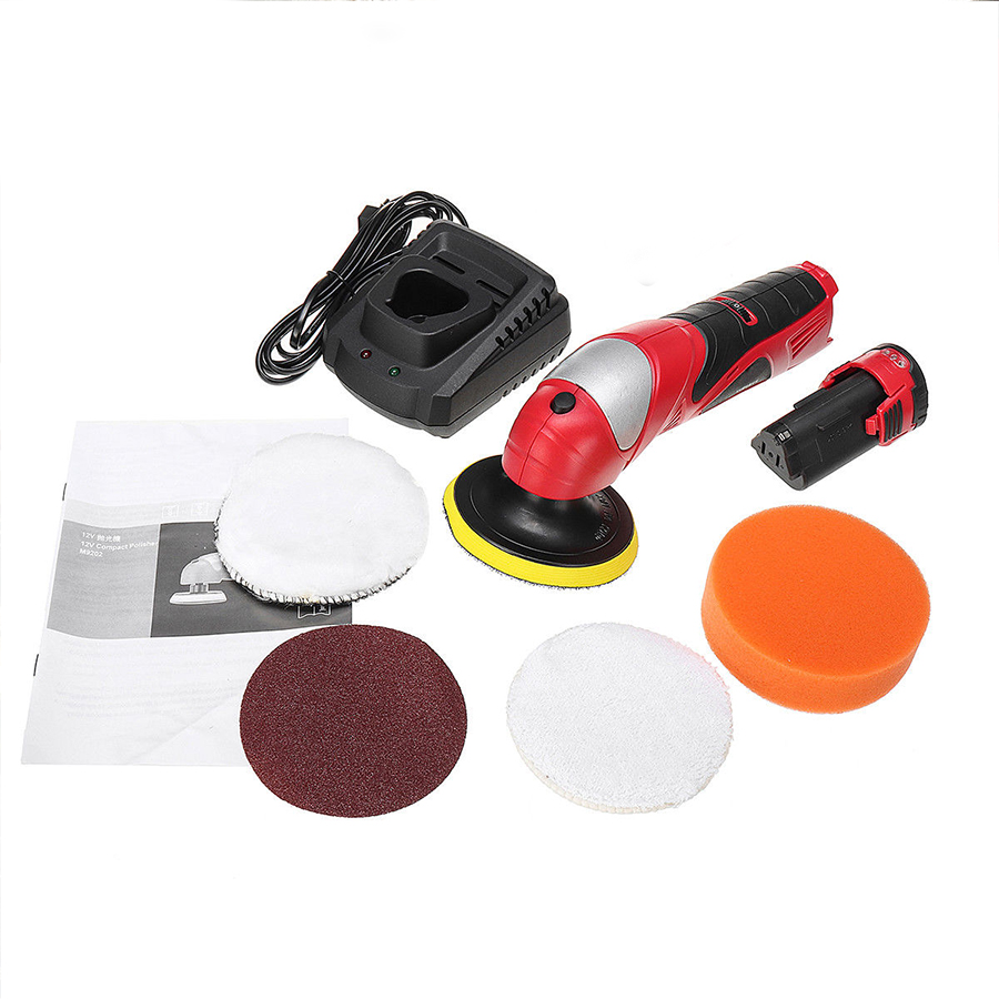 Car Polisher Waxer Adjustable Speed Portable Waxing Machine 12V Lithium Battery Charging Polishing Machine 12v rechargeable lithium electric polishing machine household adjustable speed car furniture polishing and polishing machine 1pc