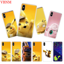 Pikachue Movie Luxury Silicome Phone Case For iPhone 7 8 6 6S Plus X 10 Ten XS MAX XR 5 5S SE Art Customized Cover Cases Coque