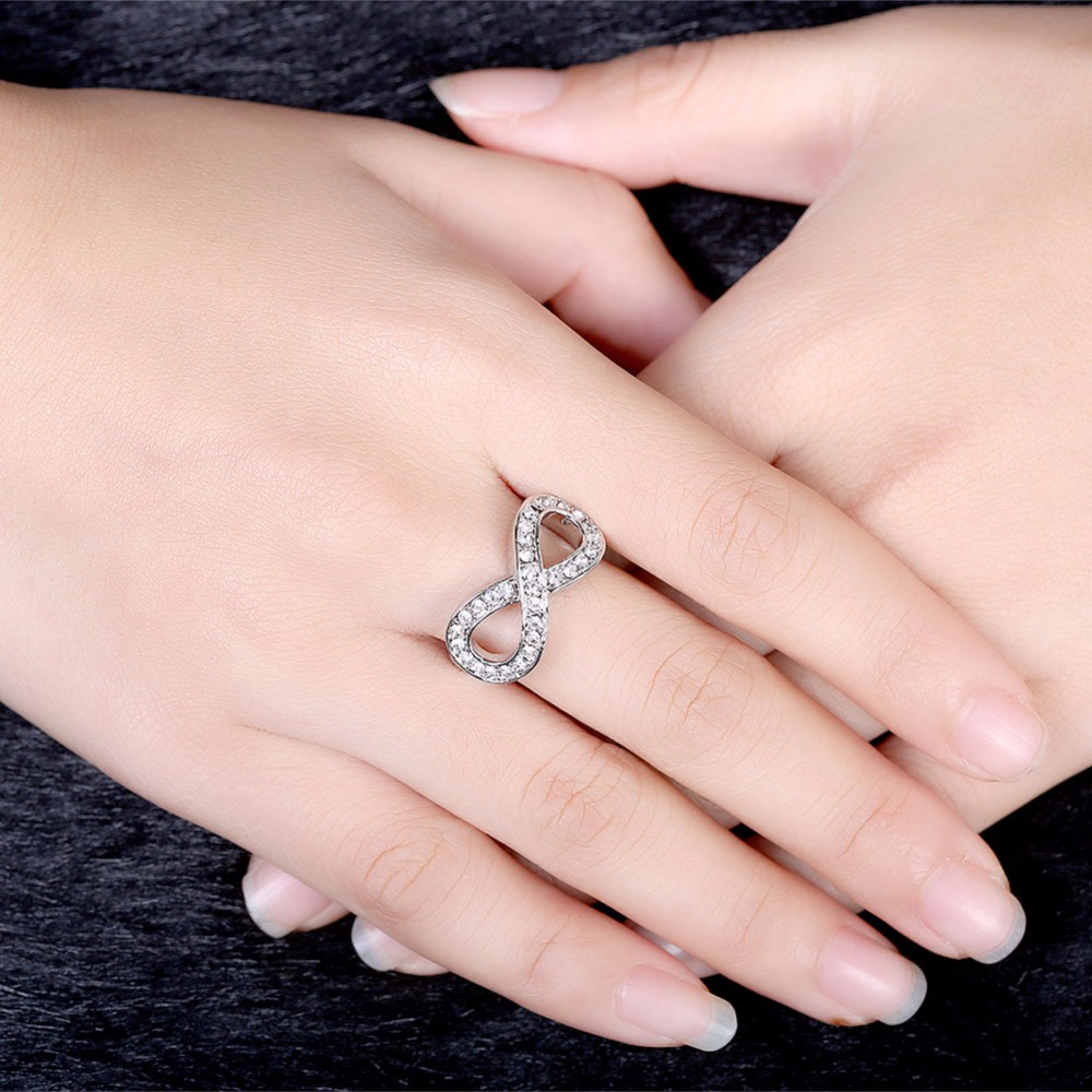 Micro Clear CZ Paved Figure Lucky Numbers 8 Infinity Sign Bracelet ...