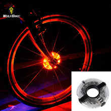 WOSAWE Bike Cycling Hubs Lights Front and Rear Spoke Decoration Warning LED Wheel Lamp Bicycle Light Waterproof Bike Accessories