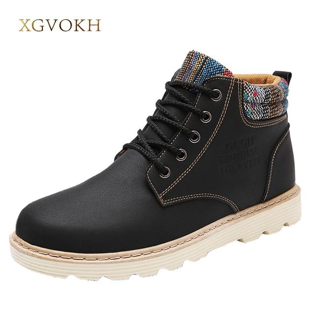 Mode hommes chaussures de cheville bottes chaud... pLvl7T