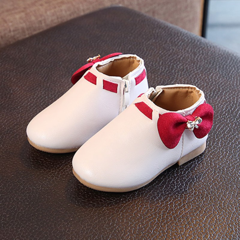 Toddler Baby Kid Girls Cute Rabbit Ears Ball Sneaker Boots Zipper Casual Shoes Rubber Boots Baby Shoes