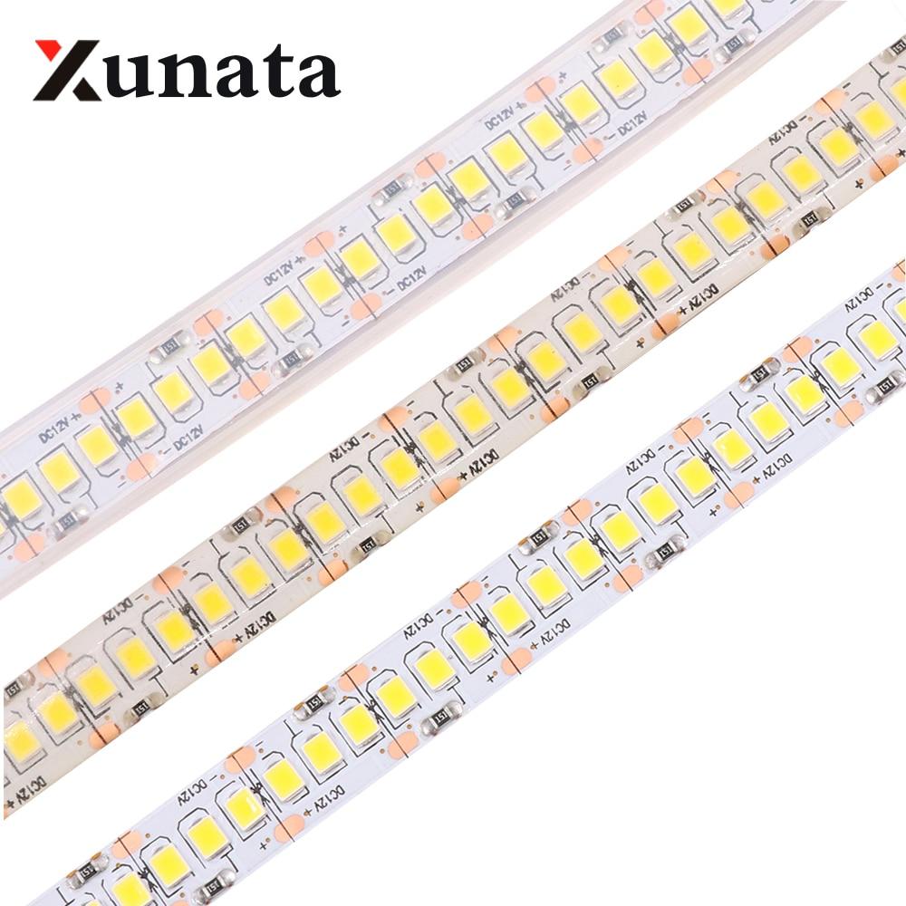 LED Strip Light Tape 2835 3528 SMD 240LEDs/M DC12V Waterproof IP67 IP65 Flexible Warm White/White /Blue/Red/Green/RGB Horse Race