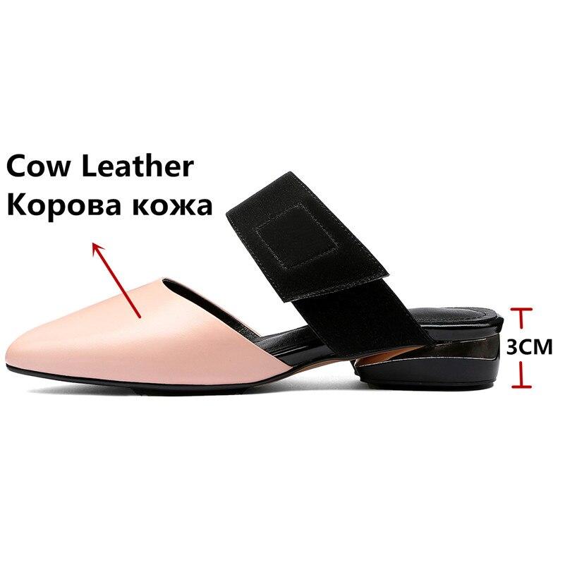 FEDONAS elegantes mujeres Casual zapatos de cuero genuino fiesta primavera verano Zapatos Mujer básico sólido tacones cuadrados tacones altos-in Zapatos de tacón de mujer from zapatos    2