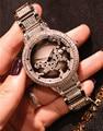 Brand Women Rotated Crystal Leopard Watches Full Steel Bracelet Clock Vogue Girls 38MM Big Dress Wristwatch 3ATM Relojes NW2250