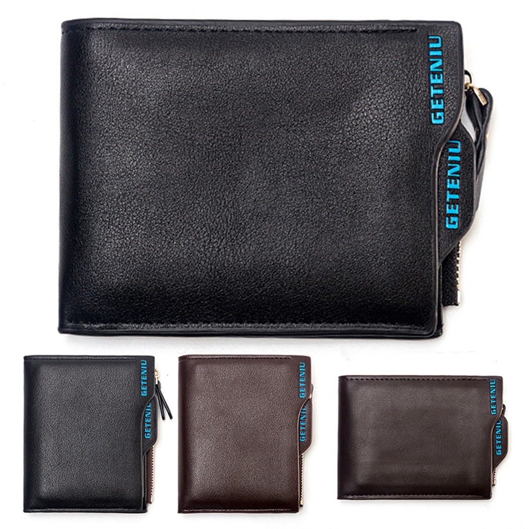 2018 Hot Fashion men wallets Bifold Wallet ID Card holder Coin Purse Pockets Clutch Men Wallet With Coin Bag Gift Black Brown joypessie solid color wallet card holder coin purse pockets girls clutch hot women wallets stone fashion women wallets