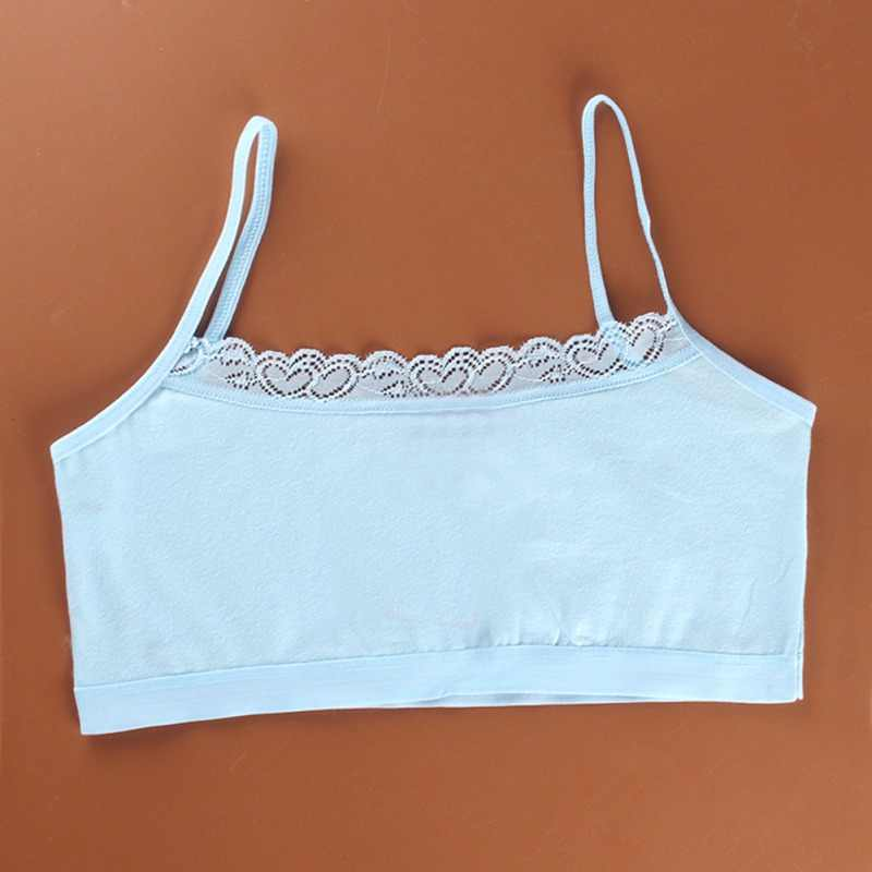 593e1186a8ce4 ... Girl Underwear Cotton Lace Bras Girls Soft Camisoles Sports Bra Top For Teens  Training Bra Adolescente ...