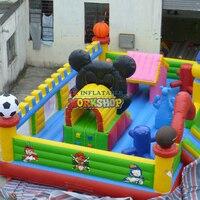 Outdoor Kinder Funland Aufblasbare Sport Spiele Sport Thema Aufblasbare Spaß Stadt