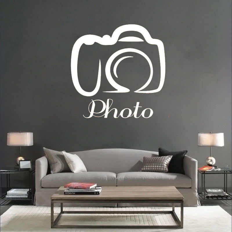 Hot Camera Pattern Wall Stickers Vinyl Photo Quotes Wall Decal Houseware Design Photography Studio Decorative Wall Sticker Sy69 Decoration Design Decoration Patternquote Wall Decal Aliexpress