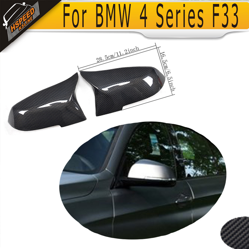 4 Series Carbon Fiber Side Mirror Covers for BMW F32 F33 2014-2016 left driving Not Fit M Car carbon fiber w205 car side mirror box cover shield fit for benz w205 left driving 2014up