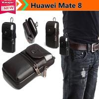 Genuine Estojo de Couro Clipe de Cinto Bolsa de Cintura Bolsa Case Capa para Huawei Companheiro 8 6.0