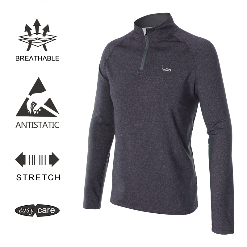EAGEGOF spring Long Sleeve Men Sportswear Golf shirts Fashion zip pullover Outdoor golf training top clothes