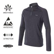 EAGEGOF Весна с длинным рукавом мужская Спортивная рубашка для гольфа Модный пуловер на молнии Открытый гольф тренировочный топ одежда мужская повседневная одежда