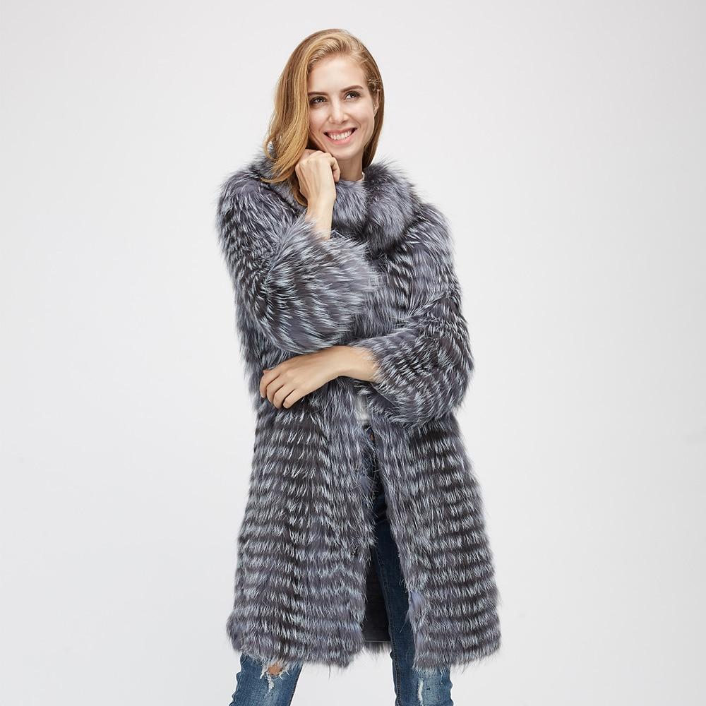 21af6300c6b Maylofuer new real fox fur coat women natural silver fox fur jpg 1000x1000 Silver  fox fur