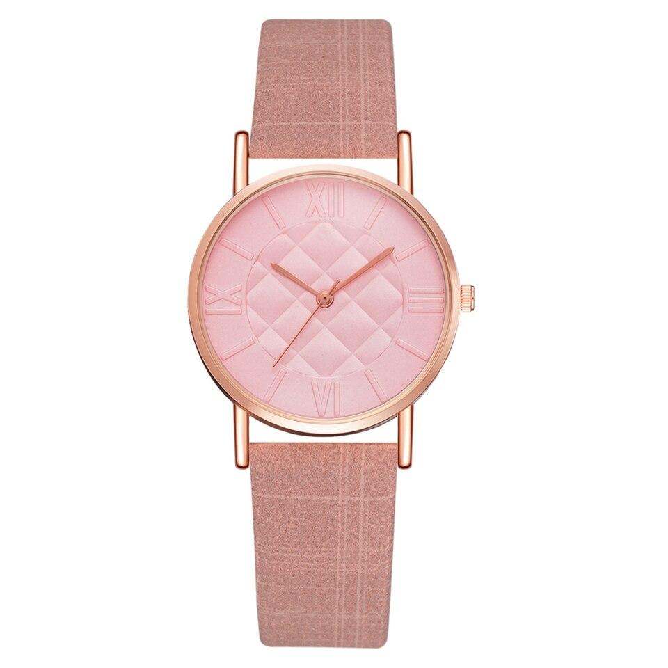 Fashion Women Leather Band Dress Quartz Wrist Watches Luxury Top Brand White Casual Ladies Wristwatch Relogio Feminino