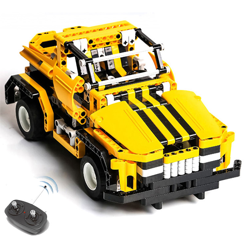 423pcs 2in1 Transform Car DIY Assemble RC Car Building Blocks Technic Series The RC Track Race Car Set Race for Kids girl boy glow race track bend flex glow in the dark assembly toy 112 160 256 300pcs slot race track 1pc led car puzzle educational toys