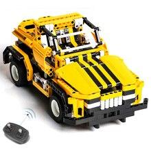 423pcs 2in1 Transform Car DIY Assemble RC Car Building Blocks Technic Series The RC Track Race Car Set Race for Kids girl boy