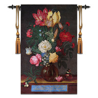 88x140cm High end Cotton Wall Tapestry Flowers Floral Wall Hanging Carpet Wall Cloth Tapestries tapiz pared