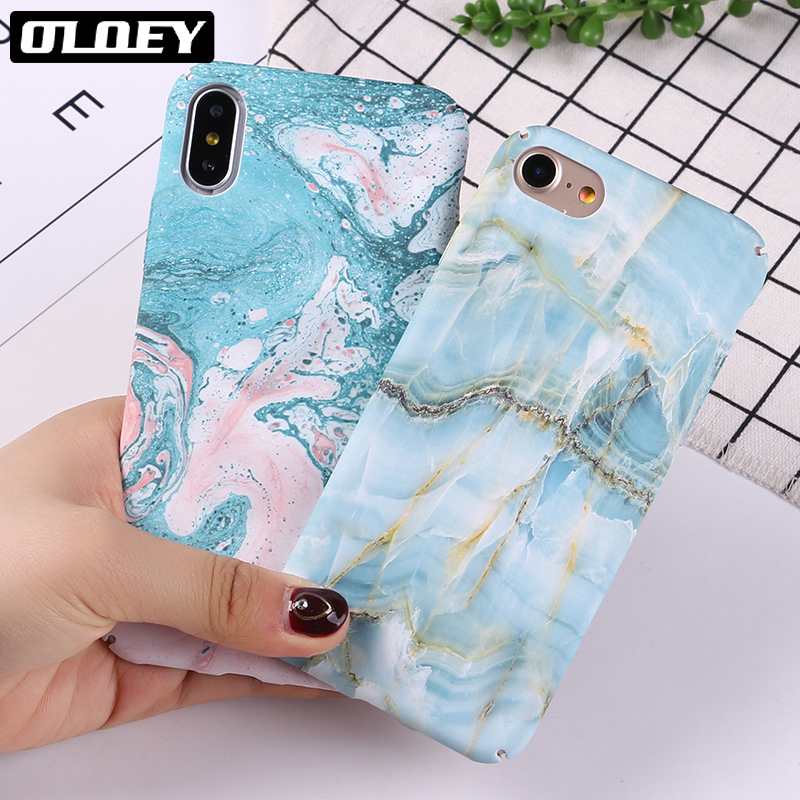 OLOEY Fashion Stone Marble Phone Case For iphone 7 7Plus Vintage Texture Pattern Colorfu ...