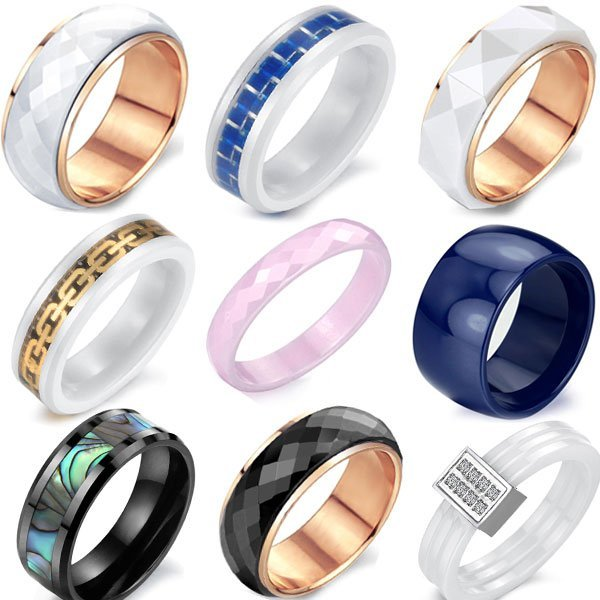 OPK JEWELRY 5pcs/lot CERAMIC FINGER RING TOP QUALITY BAND CERAMIC RINGS Mix Order Free Shipping Charm Jewelry For Engagement