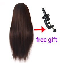 Professional training heads with long thick hairs practice Hairdressing dolls head hair Styling maniqui tete mannequins for sale